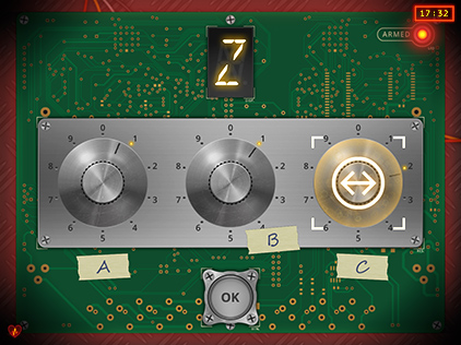 Them Bombs Three Knobs module PC view
